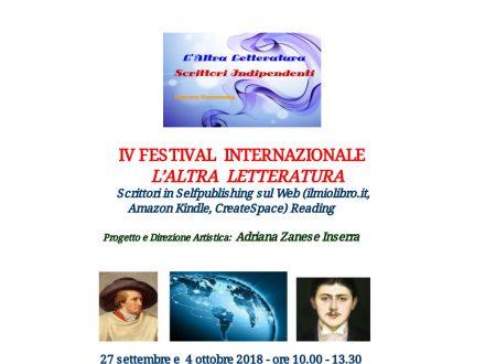 IV Festival Scrittori Indipendenti 2018 Locandina